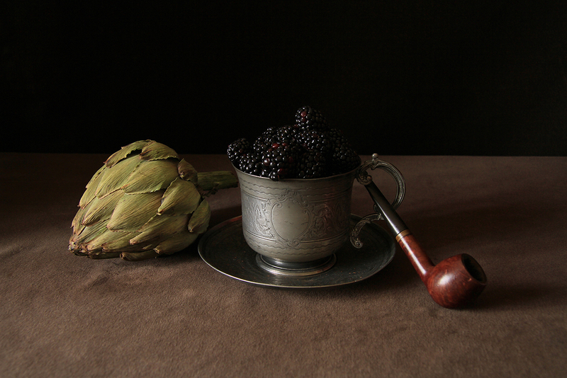 Still Life With Blackberry and Pipe